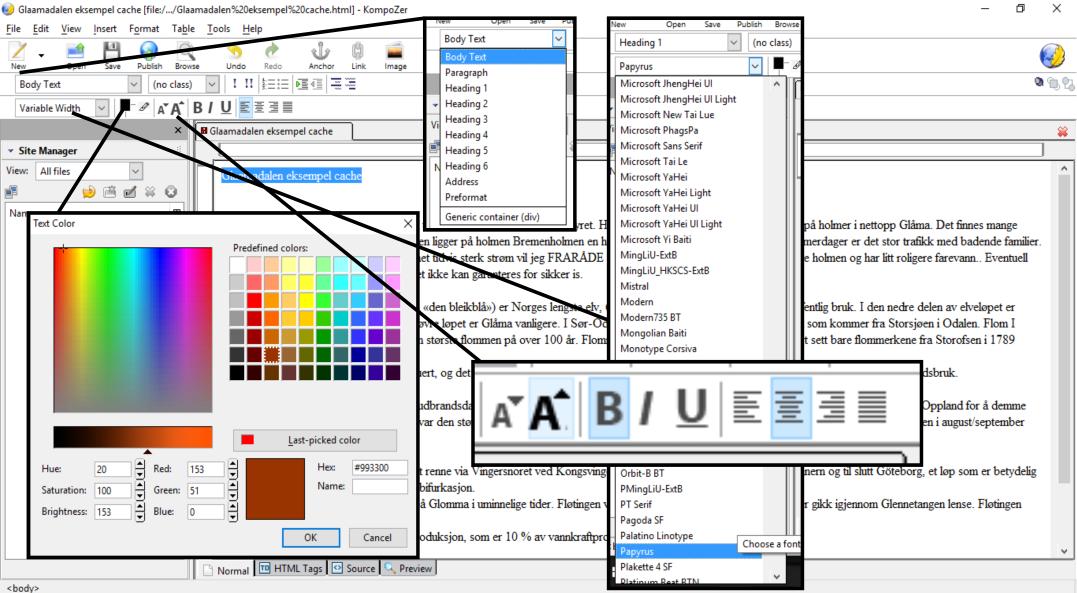 Formaterings verktøy
